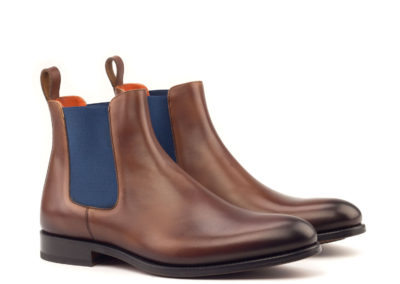 Chelsea Boot Classic - Light Burnishing-Painted Calf Med Brown-Ang5
