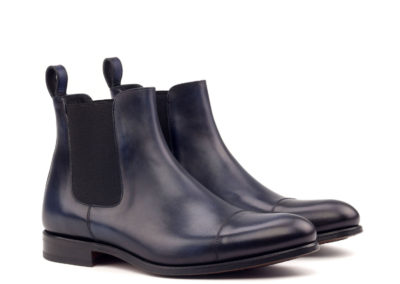 Chelsea Boot Classic - Light Burnishing -Painted Calf Navy-Ang5