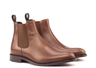 Chelsea Boot Classic - Painted Calf Med Brown And Dark Brown-Ang5