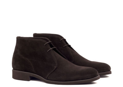 Chukka - Lux Suede Dark Brown-Ang5