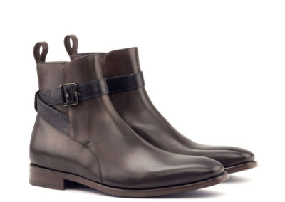 Jodhpur Boot - Light Burnishing - Painted Calf Dark Brown- Painted Full Grain Navy-Ang5