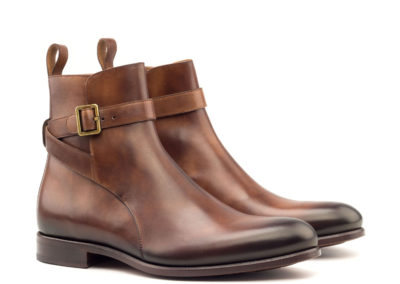 Jodhpur Boot - Light Burnishing-Painted Calf Med Brown-Ang5