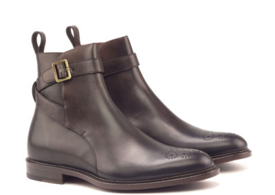 Jodphur Boot - Burnisihng- Painted Calf Dark Brown-Ang5