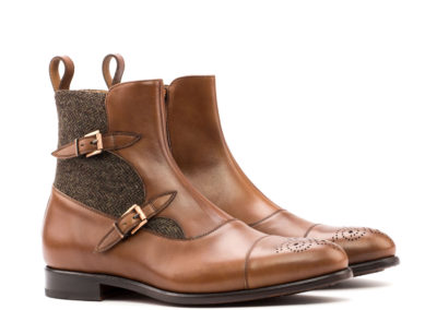 Octaian Boot - Box Calf Med Brown-Herringbone Brown-Ang5