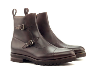 Octavian Boot - Painted Calf Dark Brown-Comando Sole-Ang5