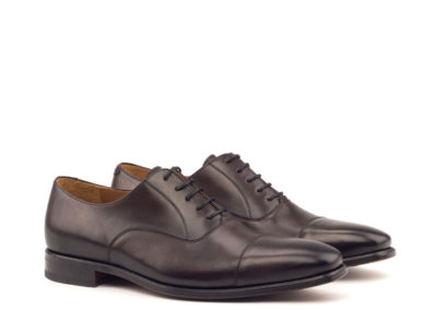 Oxford - Light Brinishing-Painted Calf Dark Brown-Ang5